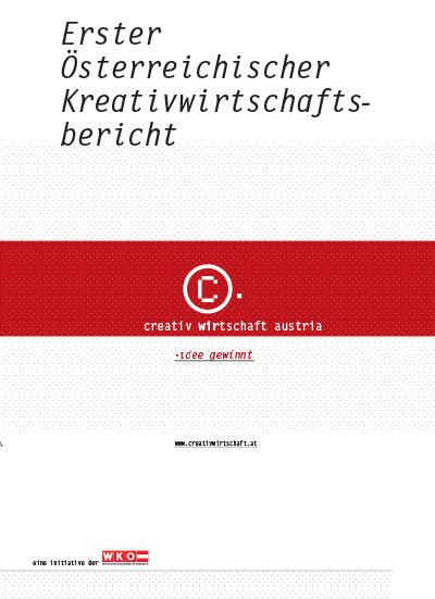 Cover 1. Kreativwirtschaftsbericht