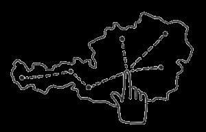 C hoch 3 Netzwerksymbol ohne Rad